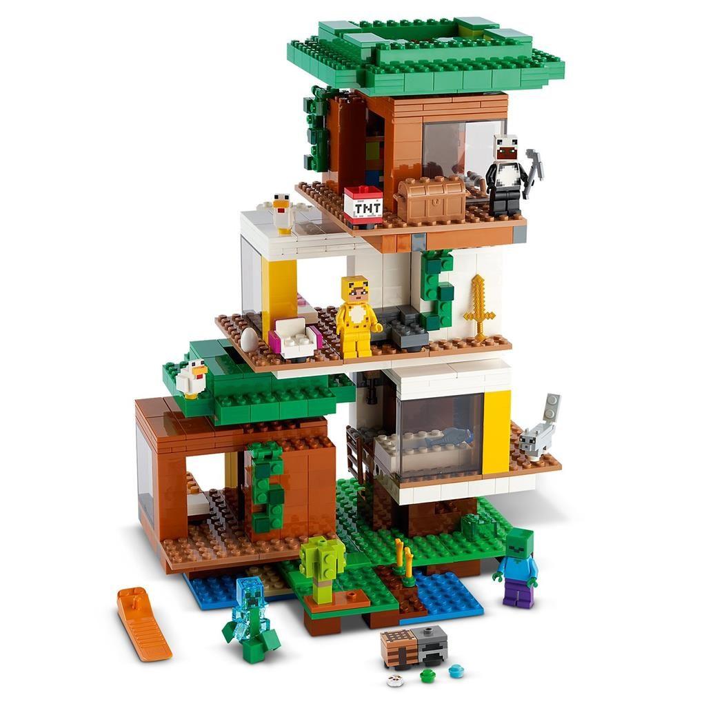 Lego MINECRAFT 21174 မျက်မှောက်ခေတ်အိမ်များသုံးအိမ်များ