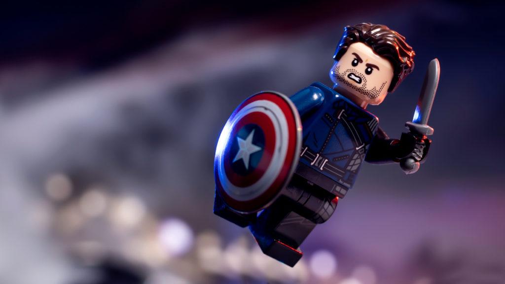 Lego Marvel 71031 Marvel Studios Winter Soldier အက်ရှင်ရိုက်ချက်ကိုအသားပေးဖော်ပြသည်