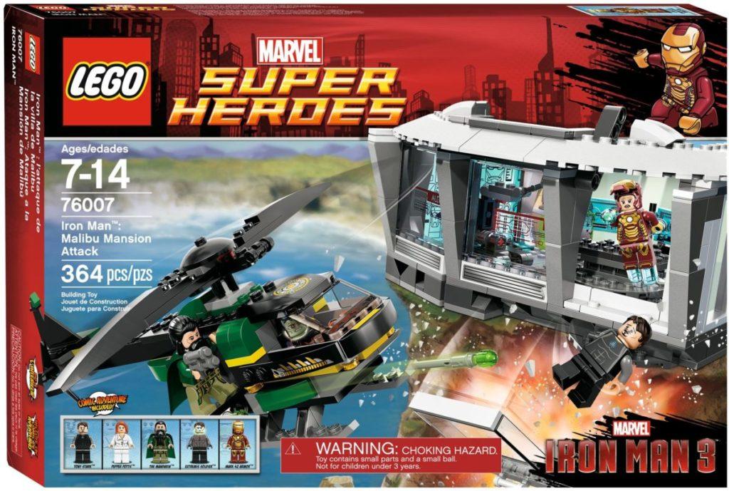 LEGO Marvel 76007 Iron Man Malibu Mansion Attack box art