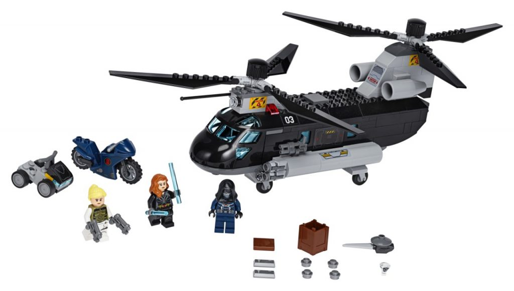 LEGO Marvel 76162 Black Widows Helicopter Chase
