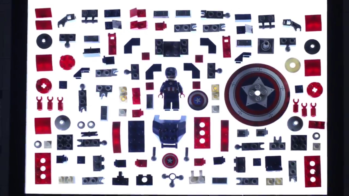 LEGO Marvel 76168 Captain America Mech Armor Stop Motion Animation Featured