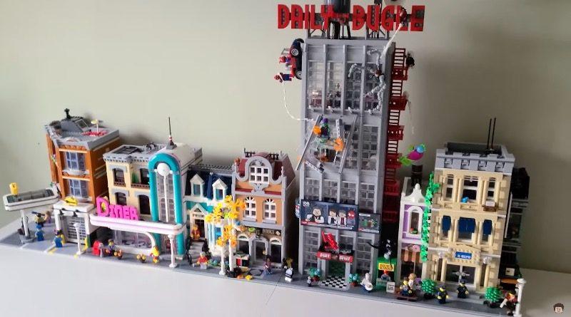 Lego Marvel 76178 Daily Bugle Modular အဆောက်အအုံများ 10270 Bookshop 10278 ရဲစခန်း 10260 Downtown Diner 10264 Corner Garage