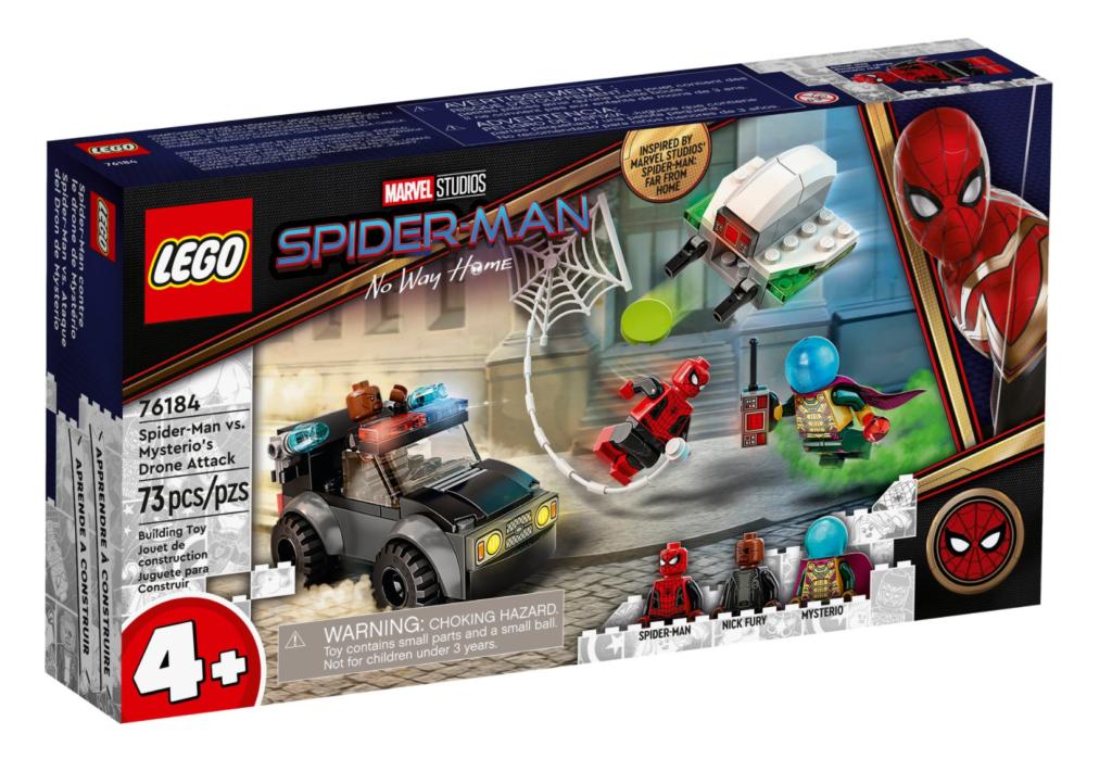 LEGO Marvel 76184 Spider Man vs. Mysterios Drone Attack box 1