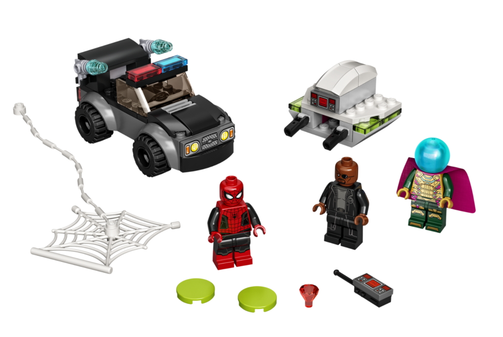 LEGO Marvel 76184 Spider Man vs. Mysterios Drone Attack contents