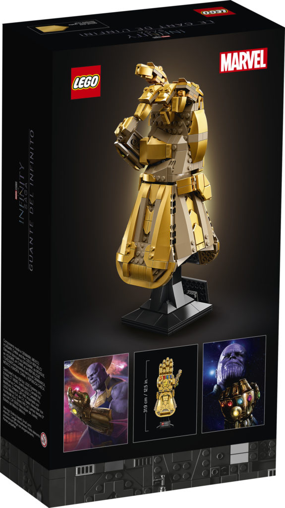 LEGO Marvel 76191 Infinity Gauntlet box back