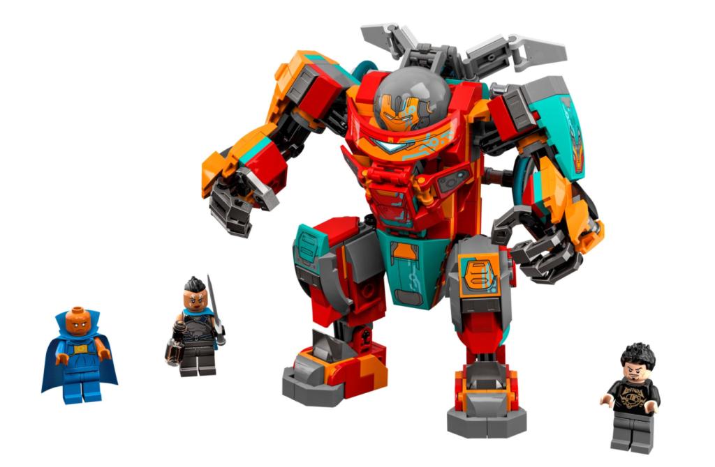 LEGO Marvel 76194 Tony Starks Sakaarian Iron Man content