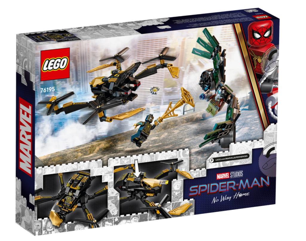 LEGO Marvel 76195 Spider Mans Drone Duel box back