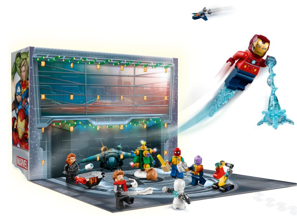 LEGO Marvel 76196 The Avengers Advent Calendar action shot 2