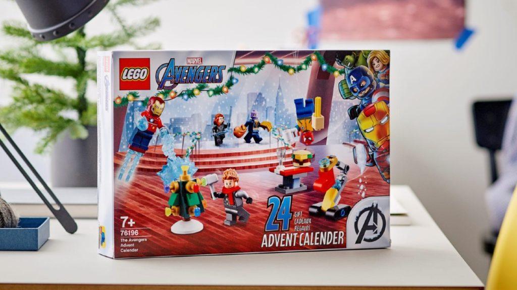LEGO Marvel 76196 The Avengers Advent Calendar box lifestyle featured