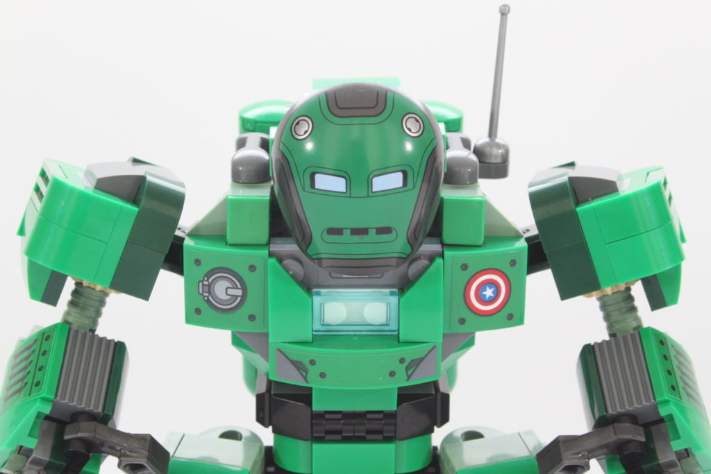 LEGO Marvel 76201 Captain Carter and the Hydra Stomper review close up 1