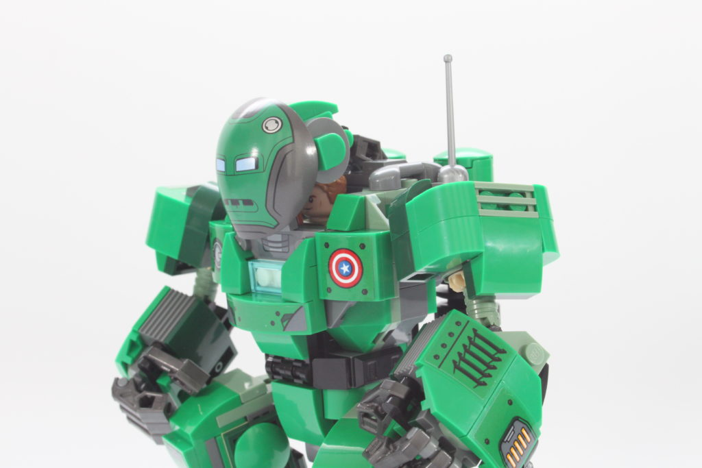 LEGO Marvel 76201 Captain Carter and the Hydra Stomper review close up 2