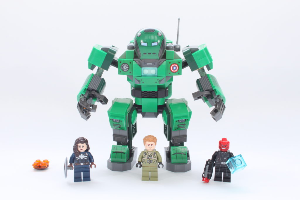 LEGO Marvel 76201 Captain Carter and the Hydra Stomper review contents