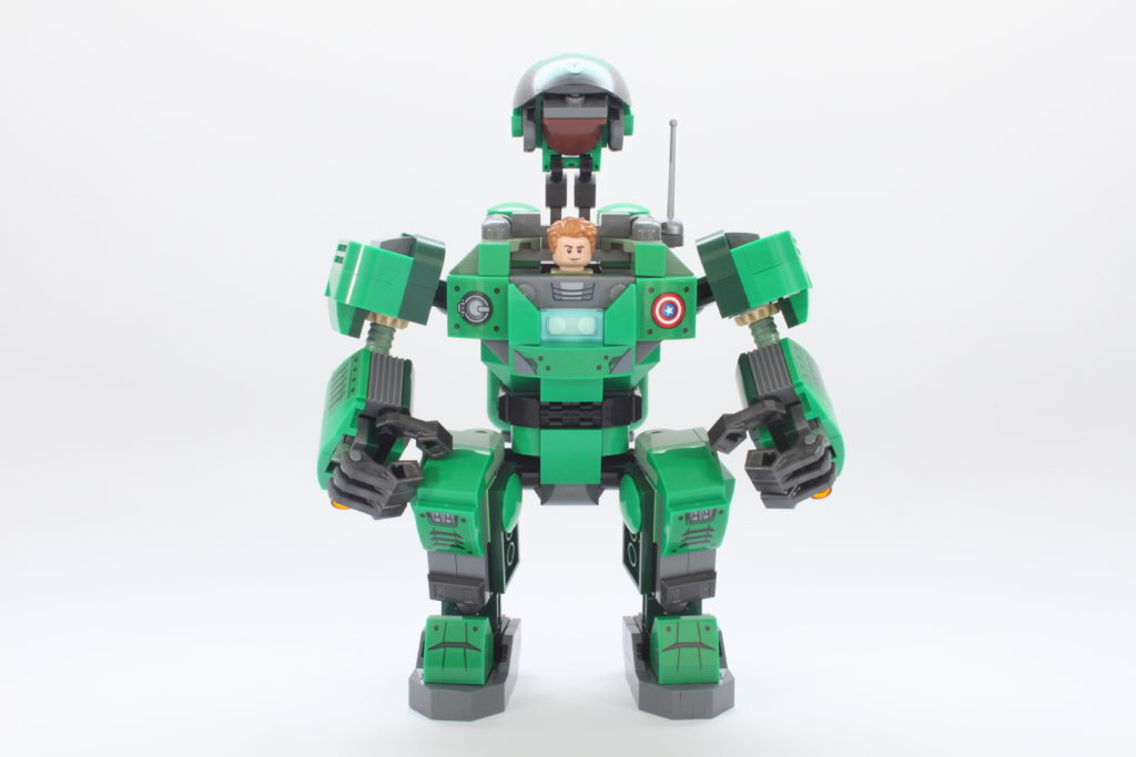 LEGO Marvel 76201 Captain Carter and the Hydra Stomper review open 3