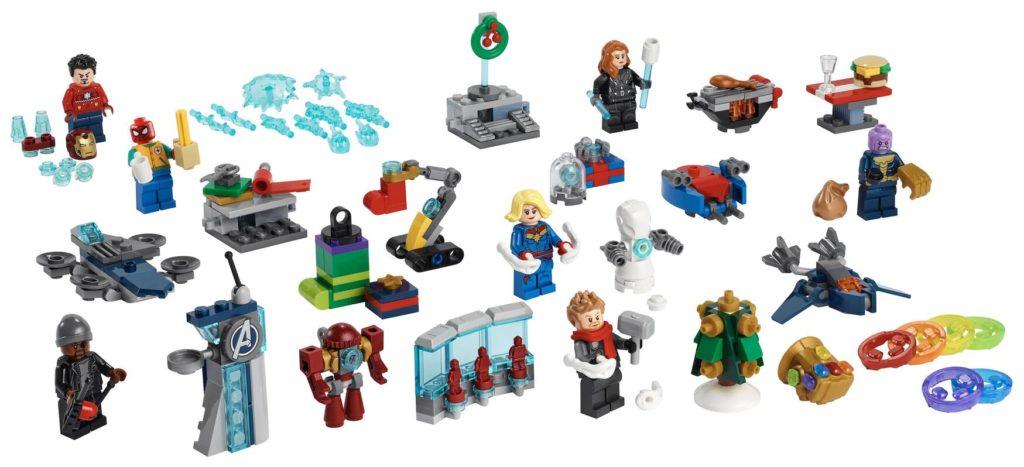LEGO Marvel Advent Calendar contents