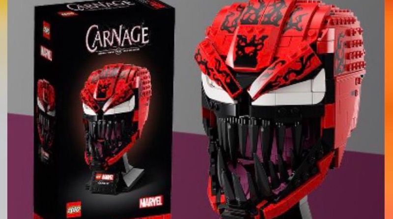 LEGO Marvel Carnage Helmet Target Ad Featured