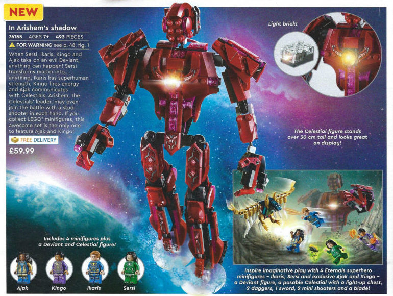 LEGO Marvel Eterenals 76155 In Arishems Shadow Catalogue