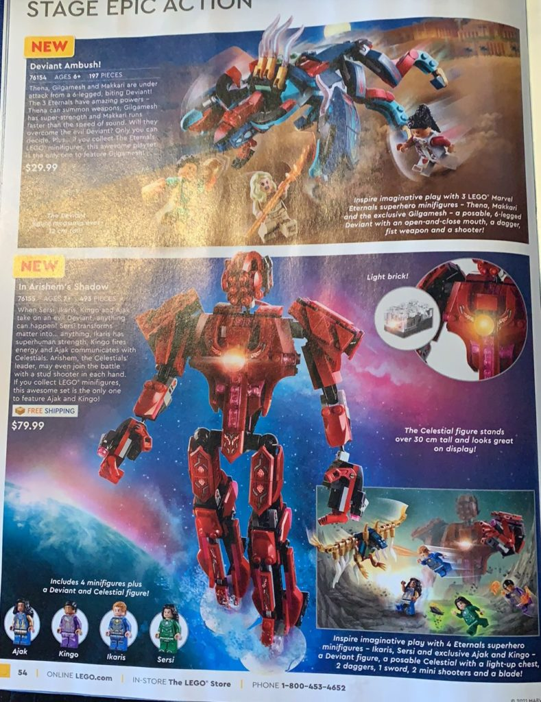 LEGO Marvel Eternals Deviant Ambush 76154 76155 In Arishems Shadow