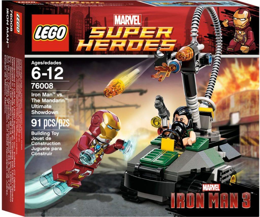 LEGO Marvel Iron Man 76088 Iron Man vs. The Mandarin Ultimate Showdown box