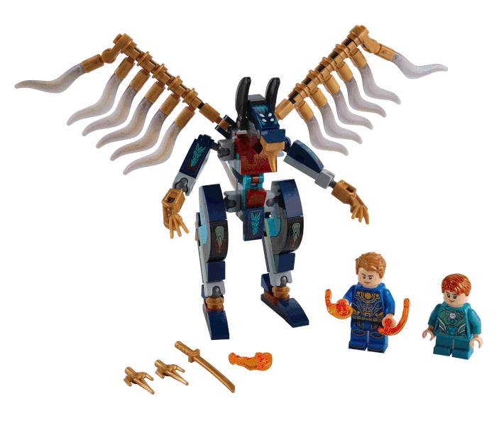 LEGO Marvel eternals 76145 Eternals Aerial Assault contents