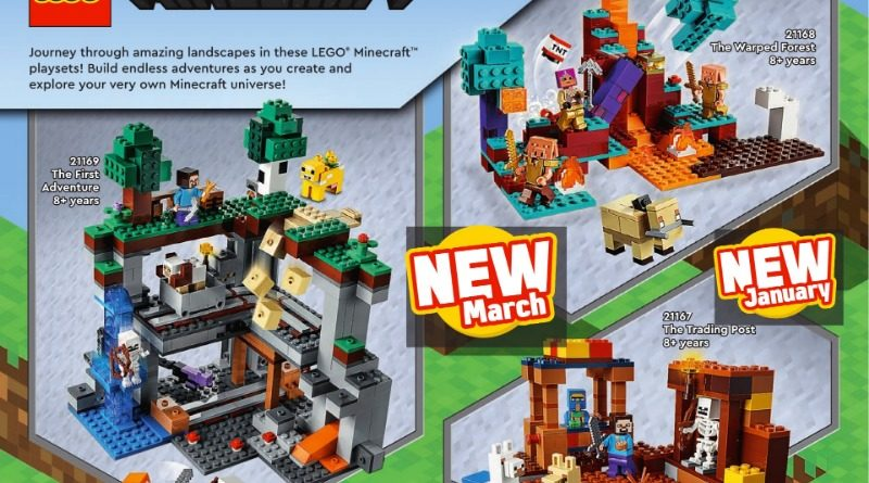 LEGO Minecraft 2021 Catalogue Featured 800x445