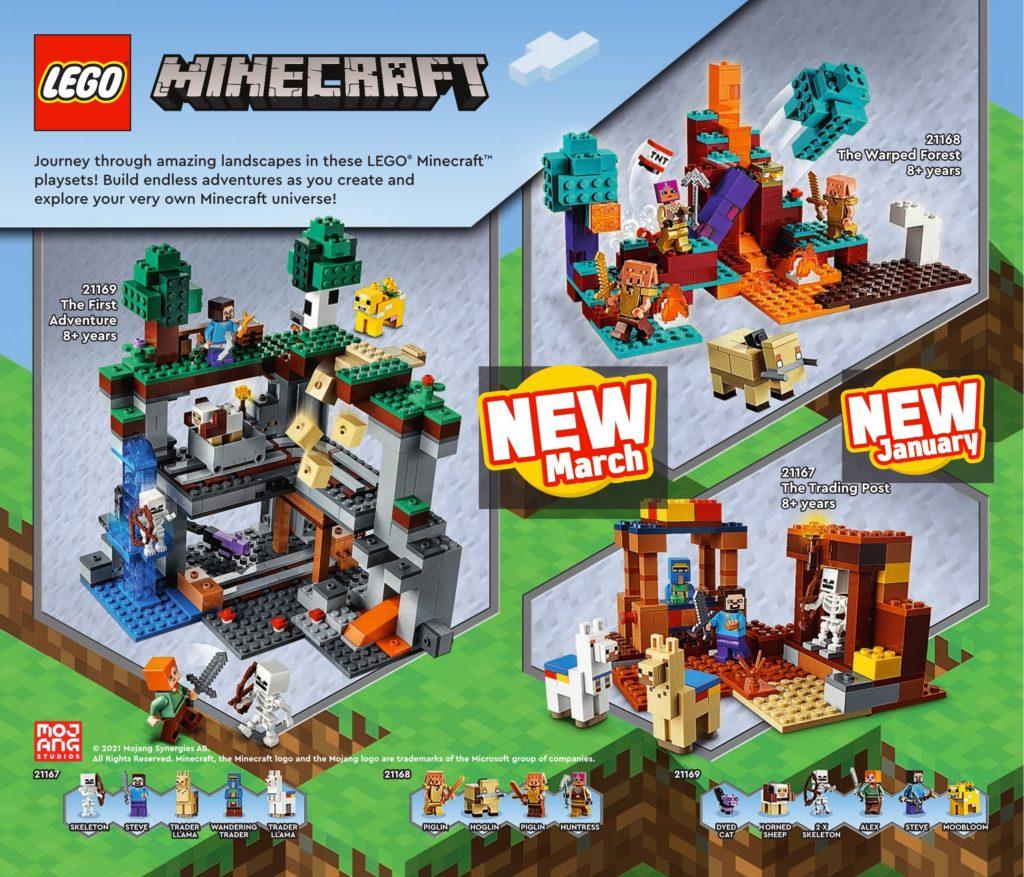 LEGO Minecraft 2021 Catalogue