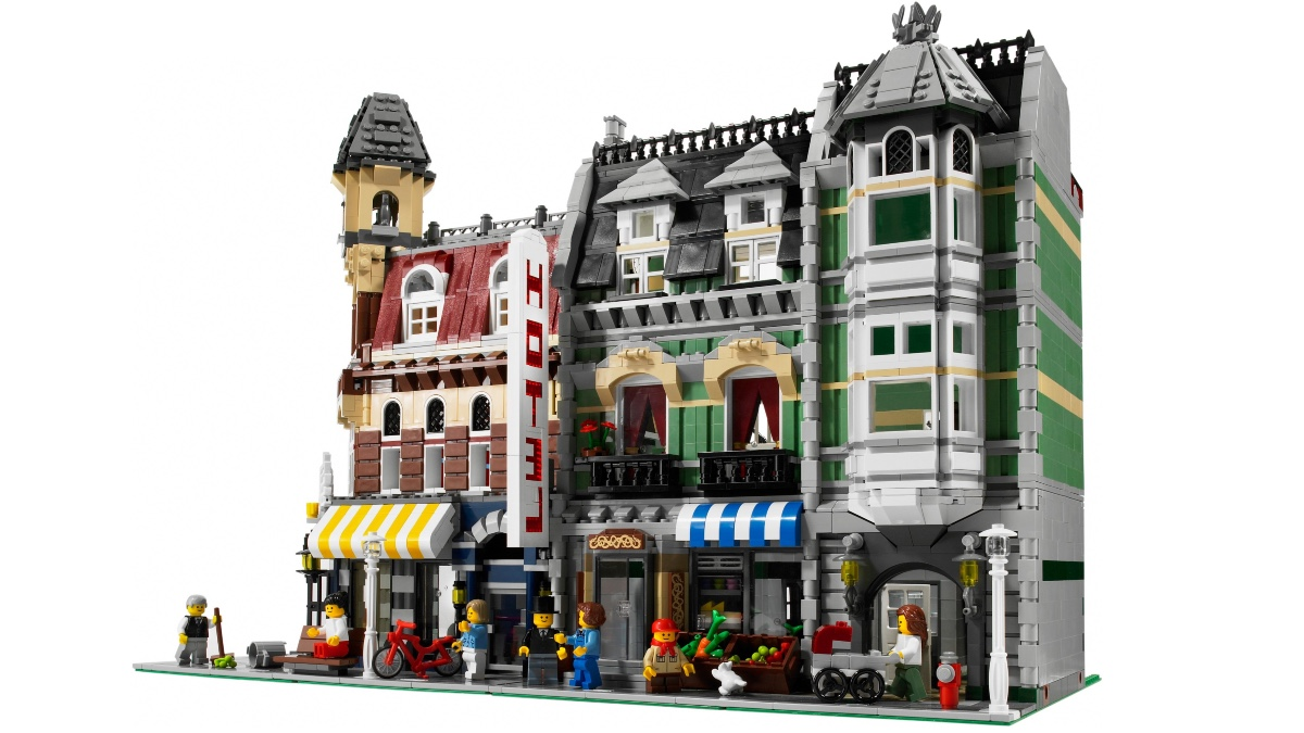 LEGO Modular Buildings Collection 10182 Cafe Corner 10185 Green Grocer Featured Resized