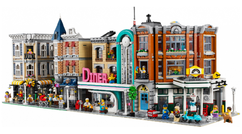 LEGO Modular Buildings Collection 10255 Aassembly Square 10260 Downtown Diner 10264 Corner Garage Featured