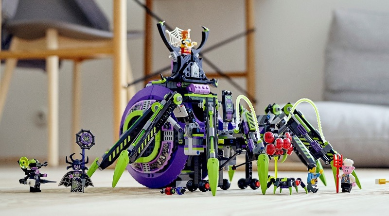LEGO Monkie Kid 80022 Spider Queens Arachnoid Base Featured