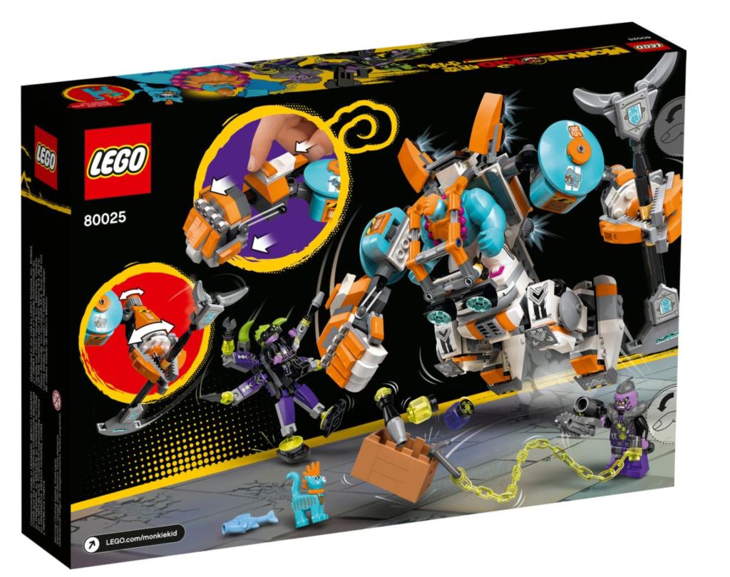 LEGO Monkie Kid 80025 Sandys Power Loader Mech box back