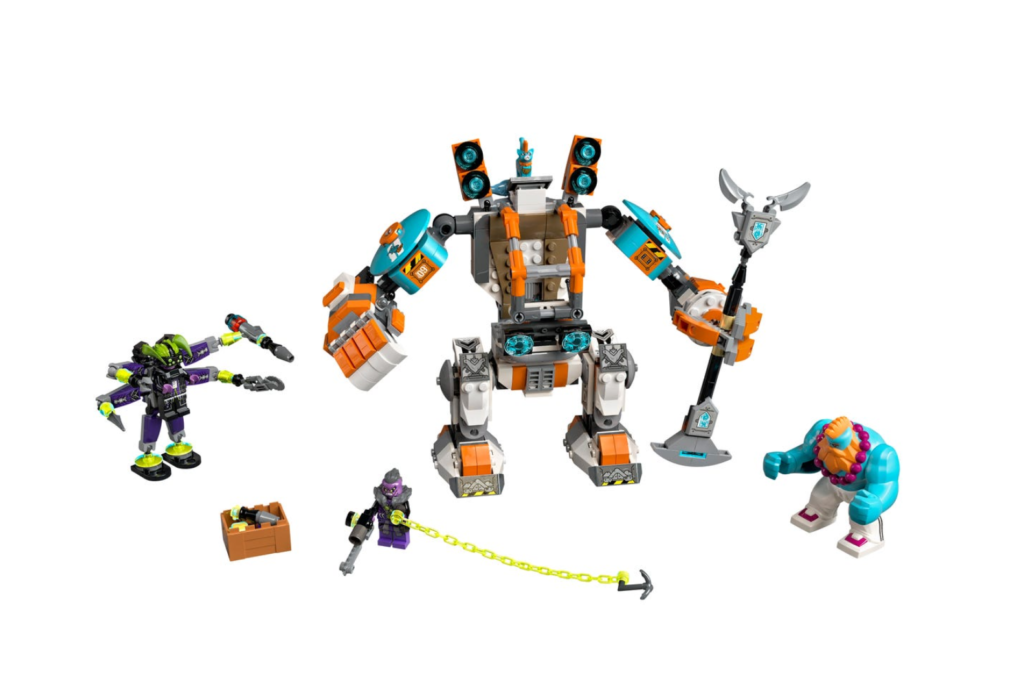 LEGO Monkie Kid 80025 Sandys Power Loader Mech contents