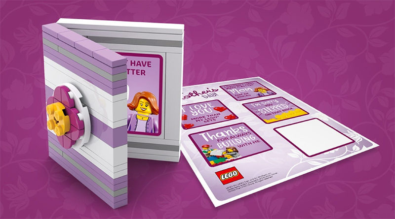 LEGO Mother's Day Card