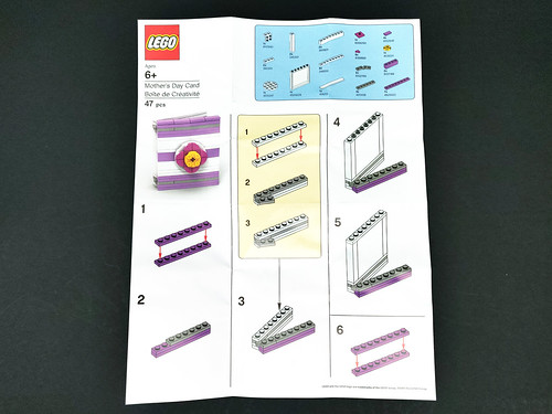 LEGO Mothers Day Card Instructions 1