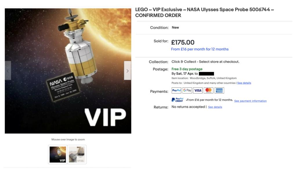 LEGO NASA Ulysses Space Probe EBay