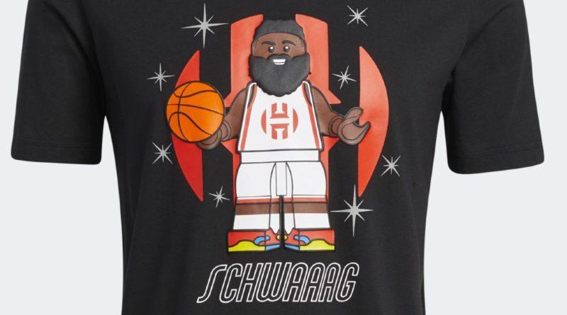 LEGO NBA Adidas James Harden shirt featured