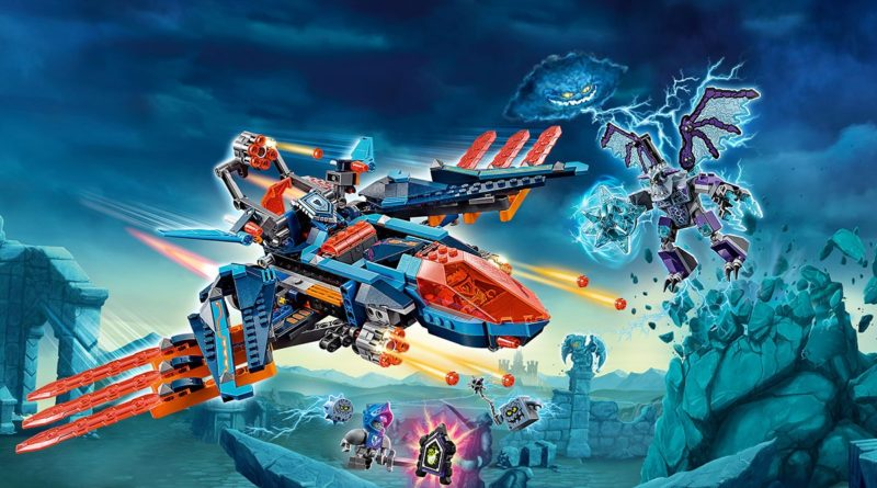 LEGO NEXO KNIGHTS 70351 Clays Falcon Fighter Blaster featured