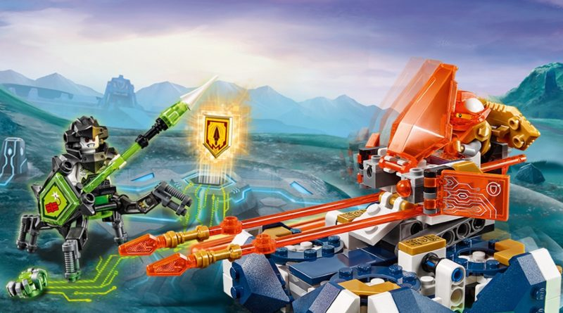 LEGO NEXO KNIGHTS 72001 Lances Hover Jouster key art featured