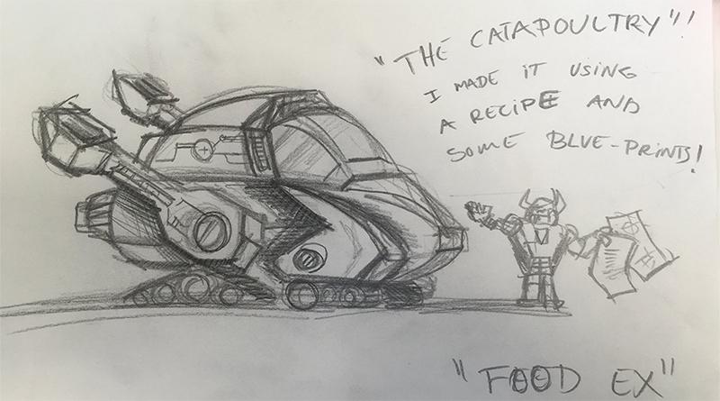 LEGO NEXO Sketch