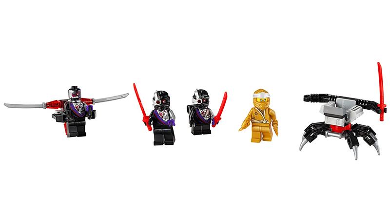 LEGO NINJAGO 40374 Golden Zane Minifigure Accessory Set Featured 800 445