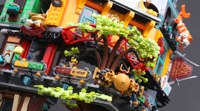 LEGO NINJAGO 71741 NINJAGO City Gardens Review Title