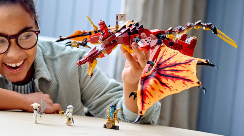 LEGO NINJAGO 71753 Fire Dragon Attack lifestyle play resized featured