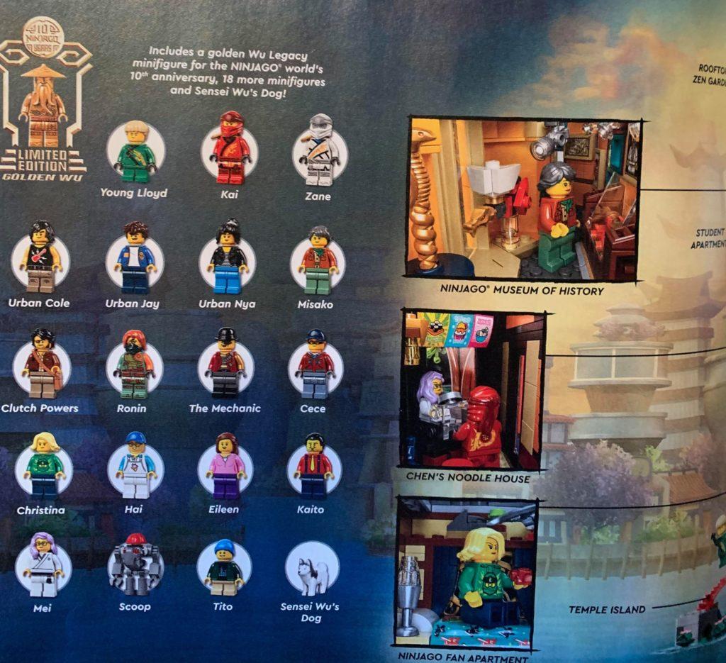 LEGO NINJAGO City Gardens Minifigures