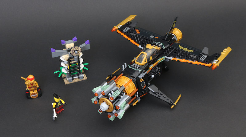 LEGO NINJAGO Legacy 71736 Boulder Blaster Review Title 800x445