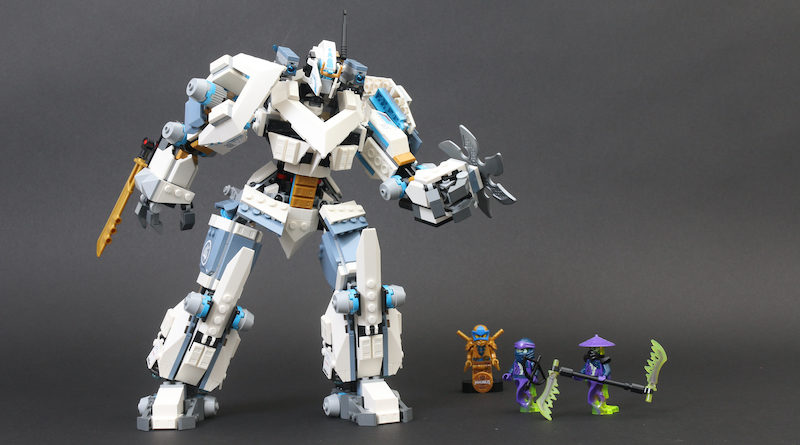 LEGO NINJAGO Legacy 71738 Zanes Titan Mech Battle Review Title 800x445