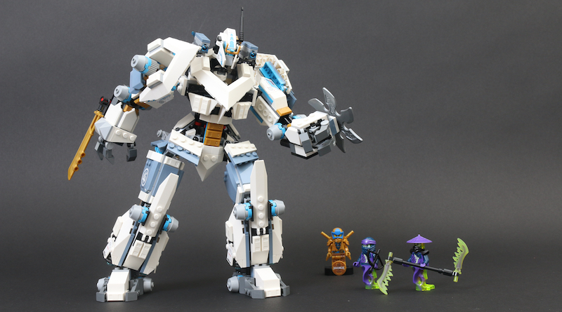 LEGO NINJAGO Legacy 71738 Zanes Titan Mech Battle Review Title