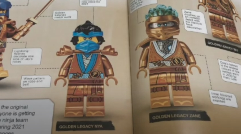 LEGO NINJAGO Legacy Golden Nya Zane Minifigure Featured