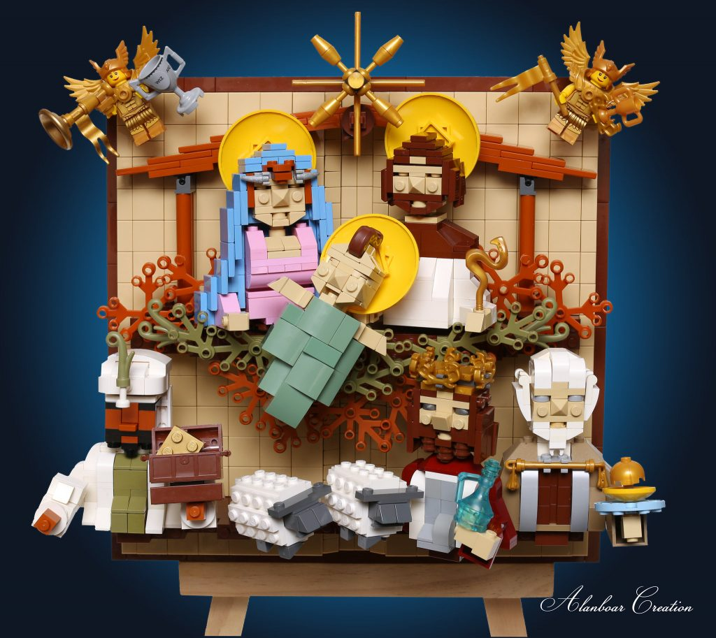 LEGO Nativity Scene 1024x913