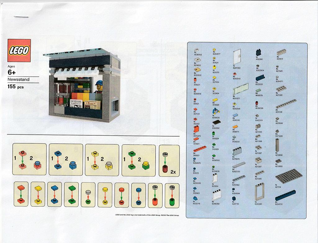 LEGO Newsstand Instructions 1