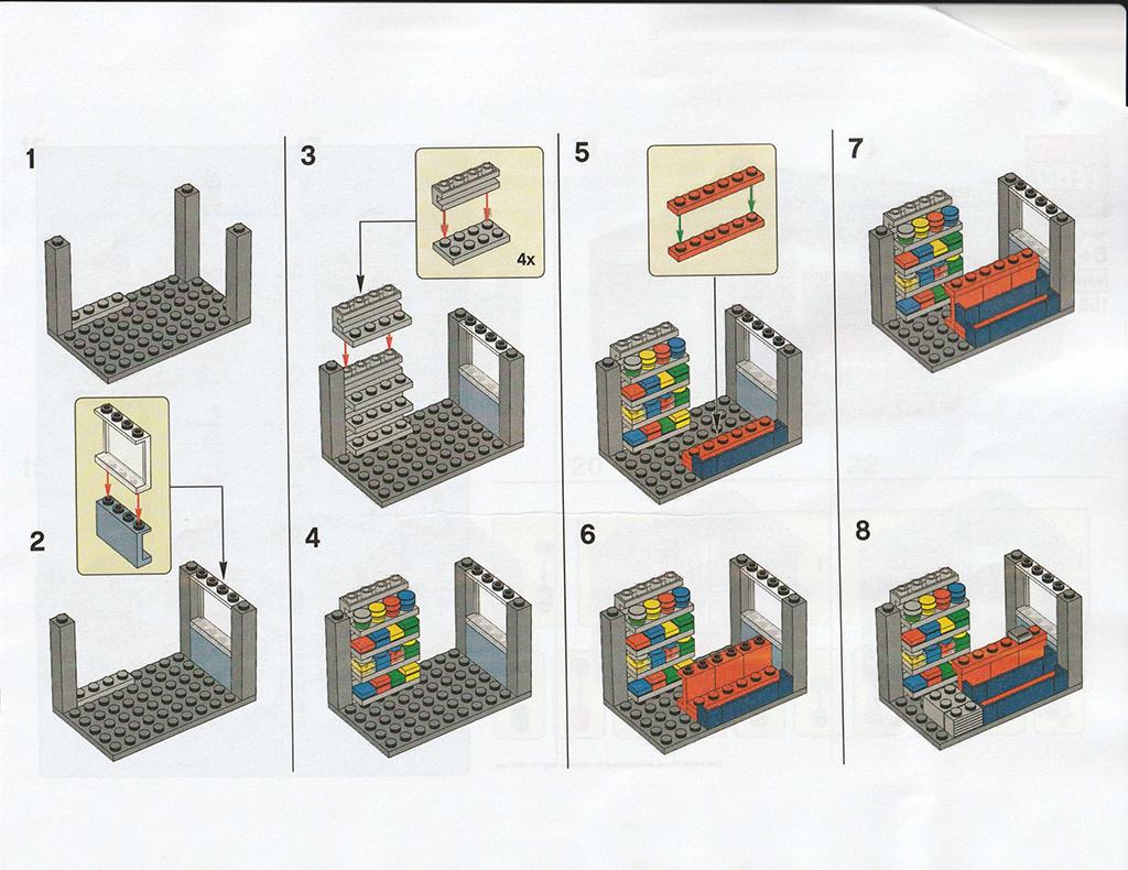 LEGO Newsstand Instructions 2