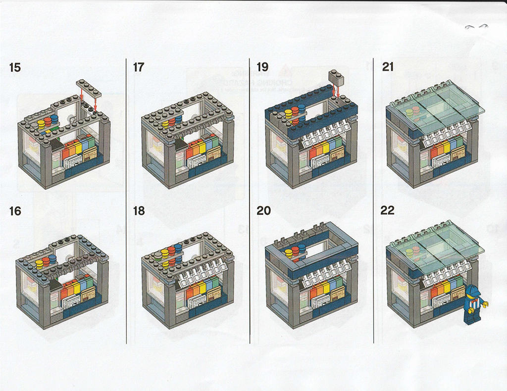 LEGO Newsstand Instructions 4