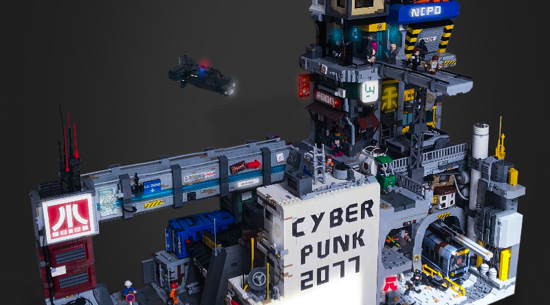 LEGO Night City Cyberpunk 2077 Build Featured
